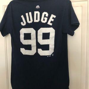 reputable site 0f1ee dc34c MLB NY YANKEES AARON JUDGE JERSEY T- SHIRT SZ: S
